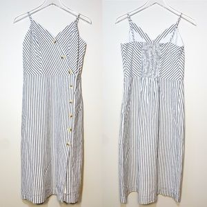 Maurices | NWT Striped Side Button Dress S